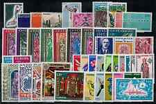 TIMBRES ANDORRE 1970 A 1975 COMPLET n°201 au n°248 NEUF** COTE 321€