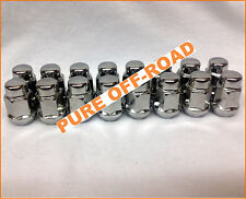 Suzuki Subaru Mazda Mini Truck Chrome Tapered Lug Nuts (16) 12mm x 1.25 12x1.25