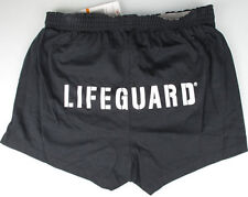 Speedo LIFEGUARD LIFE GUARD Female Woman Roll Waist POOL SHORT Black MED 7090039