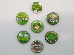 48 ST PATRICKS DAY PINS mini button pins IRISH SHAMROCKS luck March