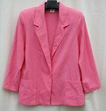 Pink TWO TWENTY M  Career Office JACKET MADE IN USA $5.50 SHIP~Washable SUMMER