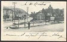 Brazil Postcard Petropolis Rua Silva Jardin To Uruguay 1908