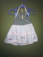 Miniwear Pink and Brown Halter Top Toddler Girls100% Cotton  Size 36 Months