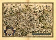 Large A1 Saxony Thuringen Laussnitz Germany Reproduction Vintage Antique Map NEW