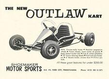 Vintage 1965 Shoemaker Outlaw Go-Kart Ad