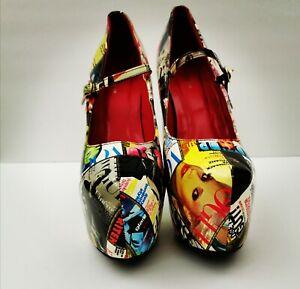 Ami Clubwear Heels Stiletto Platform Vogue Cool Shoes Sz 10 Woman