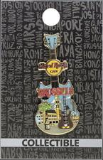 Hard Rock Cafe BRUSSELS 2017 City Tee T-Shirt GUITAR Series V16 PIN Card #94133