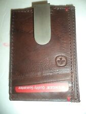 Swiss Army Exterior Genuine Leather Money Clip/Clamp