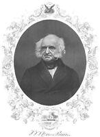 Democratic Party President Patriot MARTIN VAN BUREN ~ 1865 Art Print Engraving