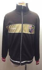 Ace England Men Sweater College Jacket Zipper Cotton Patches Brown L Union Jack