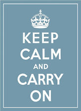 KEEP CALM AND CARRY ON A4 POSTER PRINT