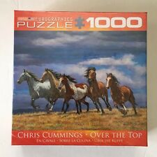 EuroGraphics OVER THE TOP Cummings Horses 1000 Piece Jigsaw Puzzle -- NEW SEALED