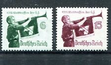 GERMANY 3rd REICH 1935 HITLER YOUTH MEETING SCOTT 463-464 PERFECT MNH