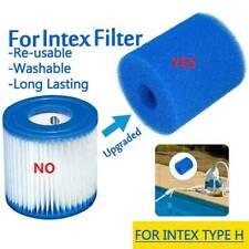 Reusable Washable Swimming Pool Filter Foam Sponge Cartridge For Intex Type H .