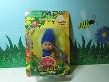 """2001 TOTALLY TROLL CLIP ON - 3"""" Dam Norfin Troll Doll - NEW IN PACKAGE - Blue"""