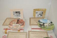 """4 Spode Collector Plates. Horse Collection, (ENG/AUS/ARA/HAN)  (8 1/2"""" dia)"""