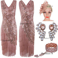 50's Style 1920s Flapper Dress Vintage Cocktail Party Prom Gowns Evening Dresses