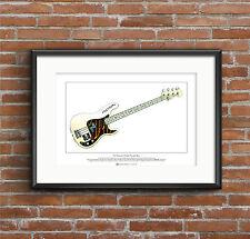 Paul Simonon's Fender Precision Bass Limited Edition Fine Art Print A3 size