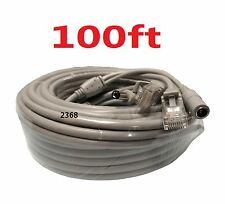 Cat5E Network Ethernet LAN Video/Thick Power Cable for CCTV IP Camera Gray 100ft