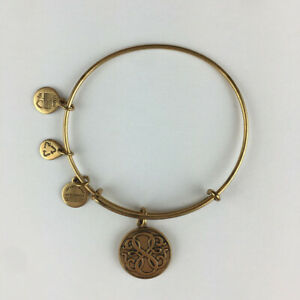 Alex and Ani Path of Life Expandable Rafaelian Gold Bangle Bracelet EUC