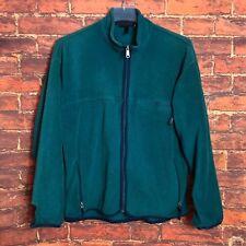 Vintage Patagonia Fleece Dark Green Zip-Up Sweater - CHEAP PRICE!! - Size Large
