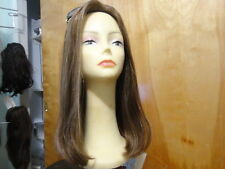 Malky Wig Sheitel Remy Human Hair Wig Medium Brown& Highlights 14-8