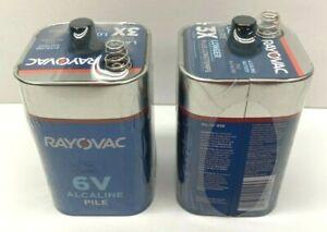 Rayovac 6V Alkaline Battery Lot of 2