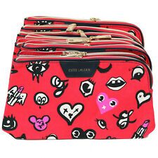 New! Wholesale Lot of 8 x Estee Lauder Red Makeup Cosmetic Bags Case Pouch