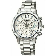 100% Original Sheen Casio SHE-5017D-7A Stainless Steel White