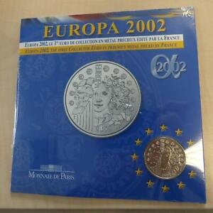 France 1/4 euro EUROPA 2002 silver 90% (13 g)