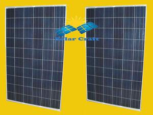 Panneau solaire Énergie renouvelable 2x260 Wat 24V monocristallin photovoltaïque