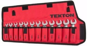 12-pc.Stubby Ratcheting Combination Wrench Set Roll-up Storage Pouch Metric