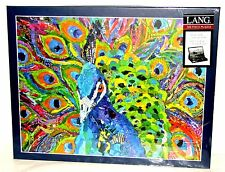 """Lang """"CACOPHONY OF COLOR"""" 500 PC Peacock Jigsaw Puzzle 18"""" x 24"""" ~New Sealed"""