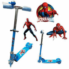 MARVEL HERO SPIDERMAN FOLDABLE DESIGN SCOOTER KIDS PUSH KICK 3 WHEEL RIDE ON TOY