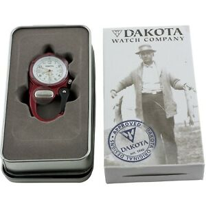 Dakota Red Mini Clip Microlight Watch Carabiner 3879 Aluminum Water Resistant