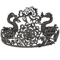 Black Swan Ballet Ballerina Jeweled Princess Costume Opera Tiara Crown Metal