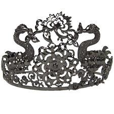 Black Swan Costume Ballerina Jeweled Tiara Crown Metal