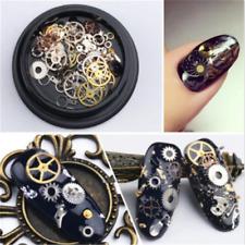100PCS Charm Nail Art Vintage Sticker Decal 3D Gear Design Manicure Tips Decor