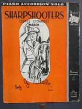 1937 Military Sharpshooters March Sheet Music-Soldier on Horseback-Vintage Cool*