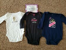 Baby girl bodysuits size 3 months, New Snowflake headband, 3 Month clothes