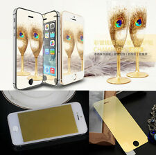 Colored Tempered Glass Reflective Mirror Screen Protector For iPhone 5 6 7/ Plus