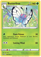Butterfree 3/192 Rare Non Holo, Pokemon TCG Sword and Shield Rebel Clash