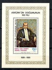 Turkish Cypriot Posts 1981 SG#MS108 Kemal Ataturk MNH M/S #A35844