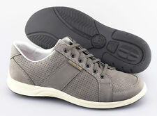 Men's MEPHISTO 'Hero' Grey Leather Perforated Sneakers Size US 9.5 EUR 9