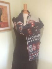 *Navy, Red & Beige Patterned Pashmina Shawl/Scarf*
