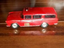 DINKY SUPERTOYS VINTAGE NASH RAMBLER CANADIAN FIRE CHIEF'S  CAR MECCANO LTD. 257