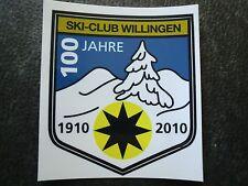 Aufkleber Ski - Club Willingen  Skispringen Wintersport 100 Jahre
