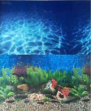 "Aquarium Background 36"" x 18.75"" 2 Sided Plants/Ocean Wave Fresh Salt Water"