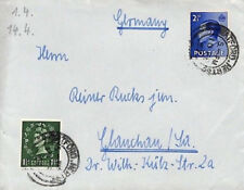 Bu387 1957 Gb Late Use Keviii Issue Wilding Combination *Watford* Herts Cover