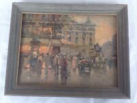 Antoine Blanchard Paris France City Street Scene 12x16 Wood Framed Art Print
